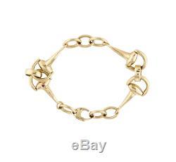 ROBERTO COIN 18K Yellow Gold Horsebit Link Bracelet medium $3100