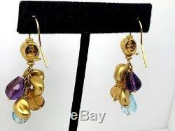 ROBERTO COIN 18K Yellow Gold Multi-Gem Golden Nugget Dangle Earrings