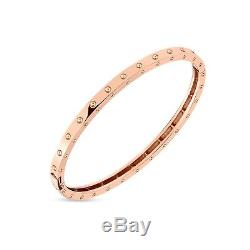 ROBERTO COIN 18k Rose Gold Symphony Pois Moi Oval Bangle Size Small