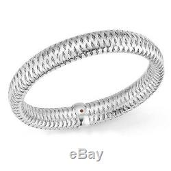 ROBERTO COIN 18k White Gold Primavera Flexible Bangle Bracelet (557697AWBA00)