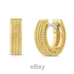 ROBERTO COIN 18k Yellow Gold Symphony Barocco Huggie Earrings (7771361AYER0)