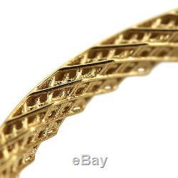 ROBERTO COIN 18k Yellow Gold Symphony Golden Gate Bangle (7771362AYBA0)