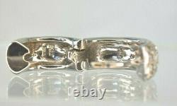 ROBERTO COIN 56 Pave Diamond 18K White Gold Huggie Hoop Loop 18KT Earrings 6 Grm