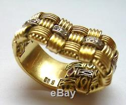 Roberto Coin Appassionata 18k Yellow Gold Diamond Ring