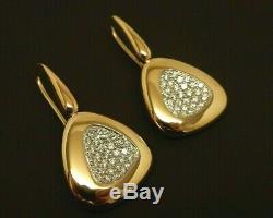 ROBERTO COIN Capri Plus 18K Gold. 95 ct tw Diamond Triangle Drop Earrings $4,125