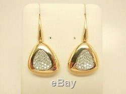 ROBERTO COIN Capri Plus 18K Gold. 95 ct tw Diamond Triangle Drop Earrings $4,125