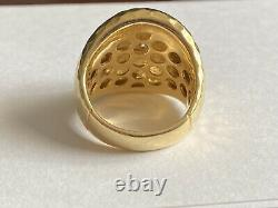 ROBERTO COIN DIAMOND 18K YELLOW GOLD 23MM WIDE RING 15.2 Grams