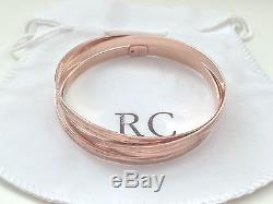 ROBERTO COIN Diamond-Cut Bangle 18kt Rose Gold Bloomingdale's $960 NWOT