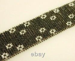 ROBERTO COIN FANTASIA 18K Wh Gold Black Sapphire/Diamond Bracelet 84 Gr. $24.000