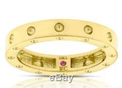 ROBERTO COIN POIS MOI 18KT Yellow Gold Single Row Band Size 6.5 (888533AY6500)
