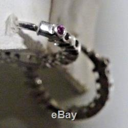 ROBERTO COIN Petite Inside Outside 18K White Gold 16mm Hoop Earrings. 76 tcw
