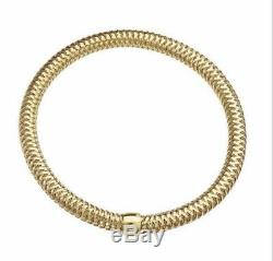 ROBERTO COIN Primavera Yellow Gold Flex Bracelet 18K Made in Italy