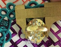 ROBERTO COIN RUTILATED QUARTZ 18k YELLOW GOLD RING