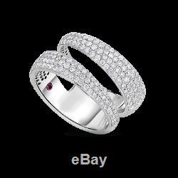ROBERTO COIN SCARLARE 2 Row Ring with Diamonds Size 6.5 (8881439AW65X)