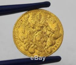 Rare Antique 1742 Zecchio or Ducat Gold Coin XIV