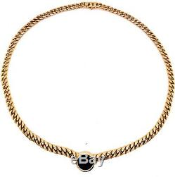 Rare Bvlgari 18K Yellow Gold Roman Emperor Coin Necklace Vintage