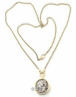 Rare! Bvlgari Bulgari 18k Yellow Gold Ancient Coin 36 Long Link Chain Necklace