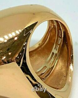 Rare Roberto Coin Free form 18k Yellow Gold Large Ring Size 6 ½