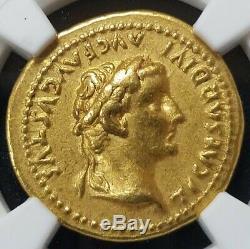 Rare Roman Tiberius Gold AV Aureus Livia Coin 14-37 AD Certified NGC Very Fine $