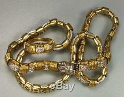 Rarest Gold And Diamonds Necklace And Ring Set By Roberto Coin -layaway Welcome
