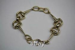 Retired Vintage 18K Yellow Gold Roberto Coin Horse Bit Link Bracelet 7.5