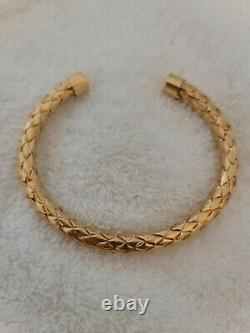 Roberto COIN 18K GOLD CUFF BRACELET AUTHENTIC PREOWNED FITS SIZE 15-16