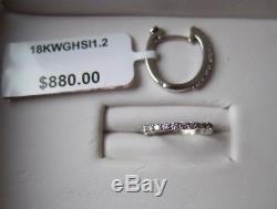 Roberto Coin, 0.2 ct tw Diamond Hoop Earrings in 18K White Gold