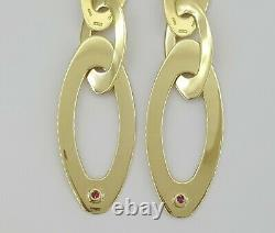 Roberto Coin 14K Yellow Gold Chic and Shine Dangle Drop Earrings 11.5 Grams 2.6