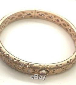 Roberto Coin 18KT Granada Diamond Rose Gold Bangle. 60CT