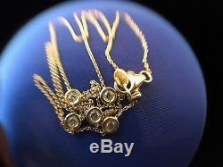 Roberto Coin 18KT Yellow Gold Bezel-Set 5 Station Diamond Necklace 16.5