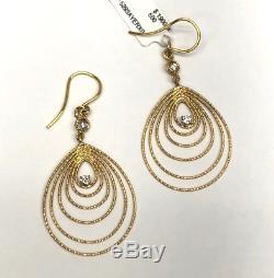 Roberto Coin 18K Gold Bollicine Drop Earrings withDiamonds