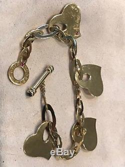 Roberto Coin 18K Gold Charm Heart Bracelet Italy