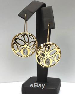 Roberto Coin 18K Gold Chic & Shine Circle Drop Earrings withDiamonds