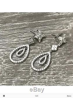 Roberto Coin 18K Gold Diamond Drop Dangle Post Earrings