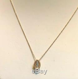 Roberto Coin 18K Gold Diamond Pendant Necklace Barocco