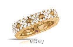 Roberto Coin 18K Gold Pois Moi Diamond Ring-NWT & Box MSRP-$4,900