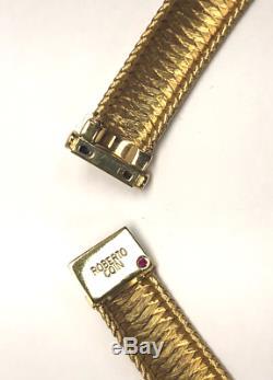Roberto Coin 18K Gold Woven Silk Collar Necklace with Diamonds