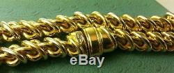 Roberto Coin 18K Italy 1226VI Hollow Link Oval link bracelet 8