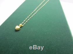 Roberto Coin 18K Necklace Dogbone Chain & Heart With Diamonds Marked, Appraisal