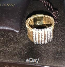 Roberto Coin 18K Primavera Ring 11.9 Grams With 80 Round Brilliant Cut Diamonds