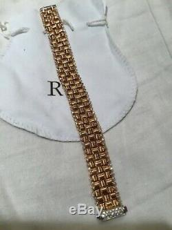 Roberto Coin 18K Rose Gold & 2.03tcw Diamond Bracelet ITALY $15,750 Retail