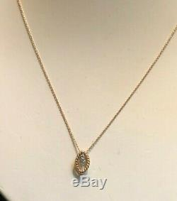 Roberto Coin 18K Rose Gold Diamond Barocco Pendant Necklace New $1,200