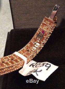 Roberto Coin 18K Rose Gold Princess Bracelet With Diamonds-NWT & Box