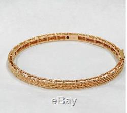 Roberto Coin 18K Rose Gold Symphony Barocco Bracelet-NWT & Box