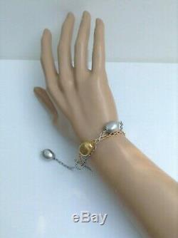 Roberto Coin 18K Two Tone White Yellow Gold Bracelet