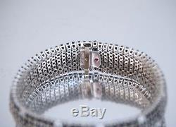 Roberto Coin 18K White Gold Black Sapphire & White Diamond Fantasia Bracelet