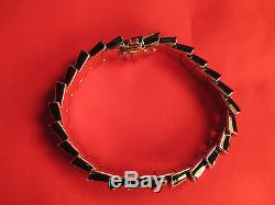 Roberto Coin 18K White Gold Diamond Black Enamel Bracelet