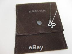Roberto Coin 18K White Gold Diamond Butterfly Pendant