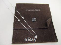Roberto Coin 18K White Gold Diamond Necklace Chain 18