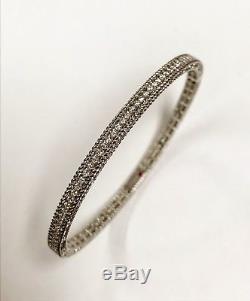 Roberto Coin 18K White Gold Symphony Princess Bracelet With Diamonds